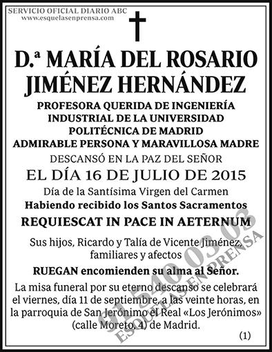 María del Rosario Jiménez Hernández